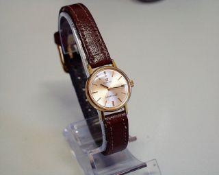 Servicesierte Und Vergoldete - Omega - Damen - Uhr Mit Mech Werk Bild