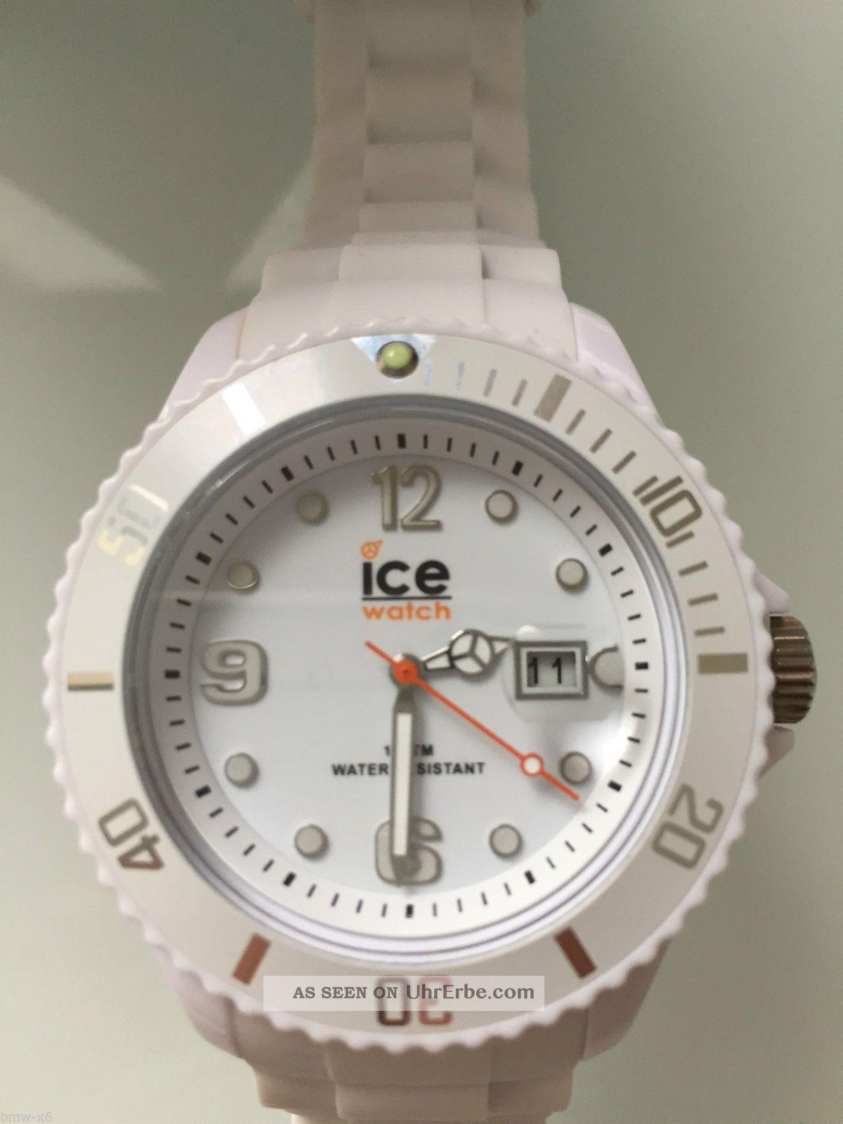 Ice Watch Sill Big White,  Ungetragen,  In Ovp Mit Rechnung Armbanduhren Bild