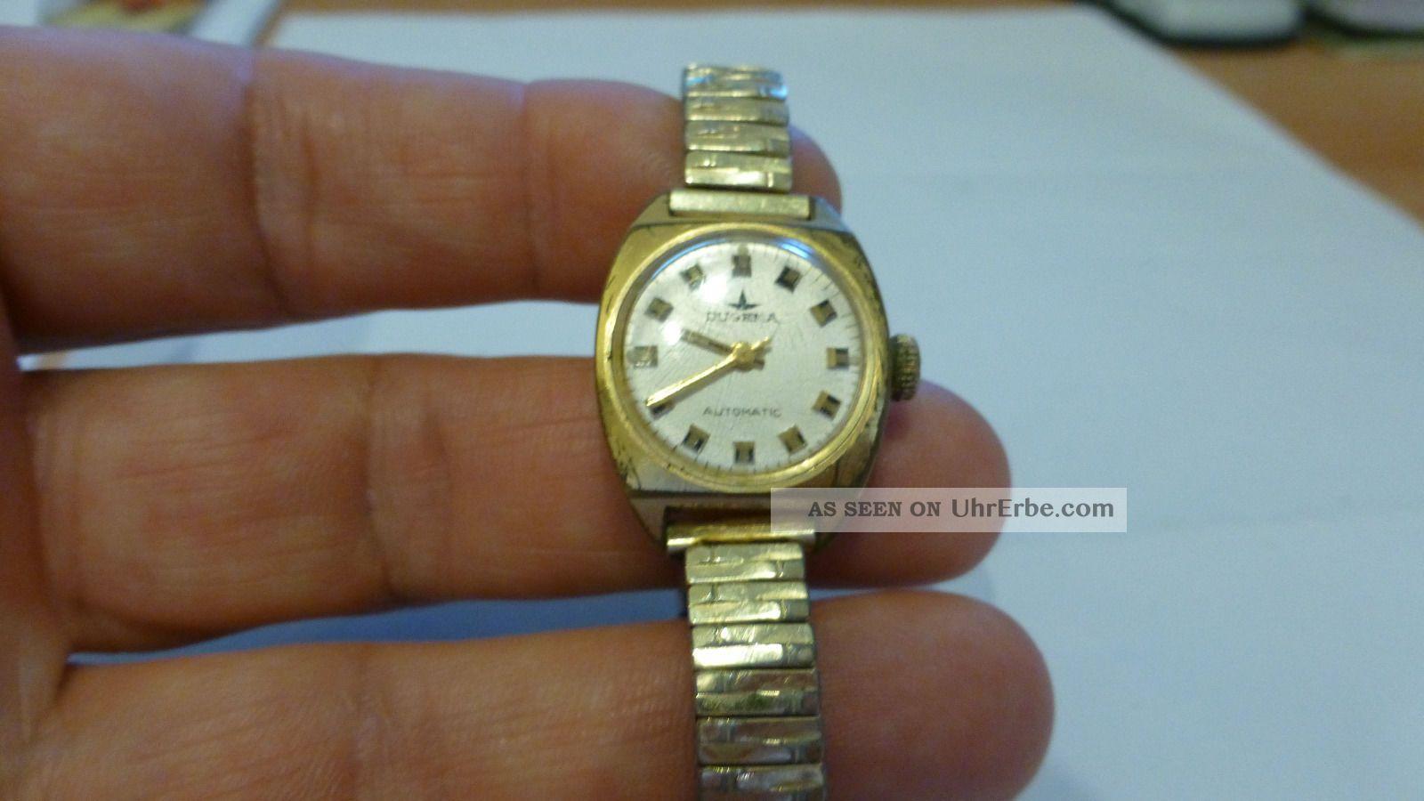 Dugena Damenuhr Automatik (vermutlich 70er Jahre Oder Früher) Armbanduhren Bild