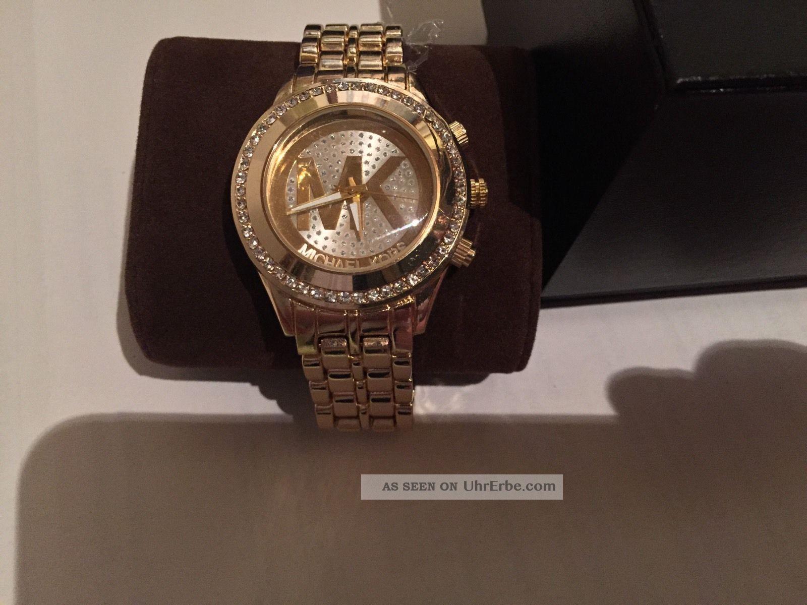 Nagelneue Michael Kors Uhr In Gold Armbanduhren Bild