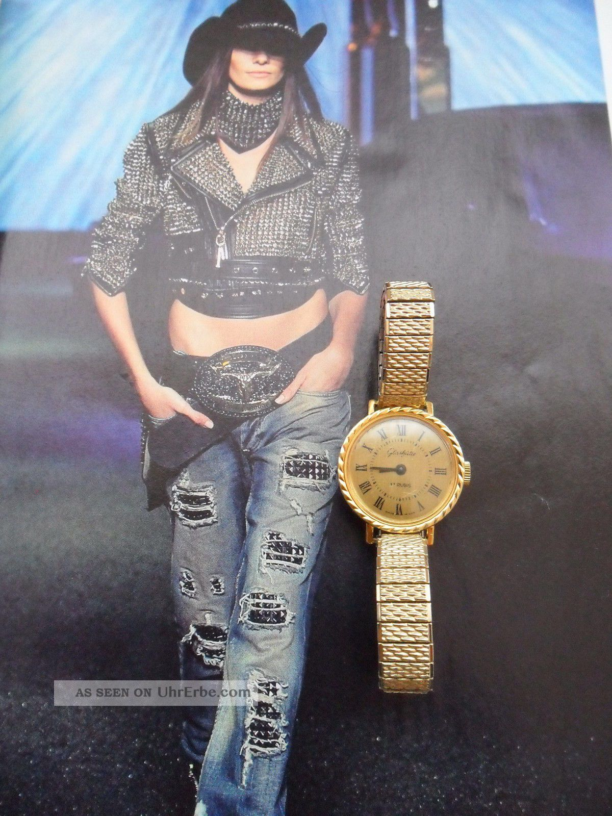 Luxus Hochwertige GlashÜtte Vergoldet 17 Rubis Made In Gdr Armbanduhren Bild