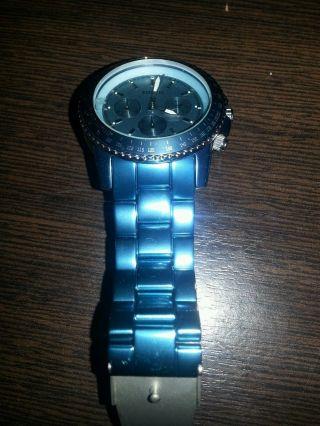 Fossil Blau Aluminium Ch 2706 Damenuhr Ideales Weihnachtsgeschenk Bild