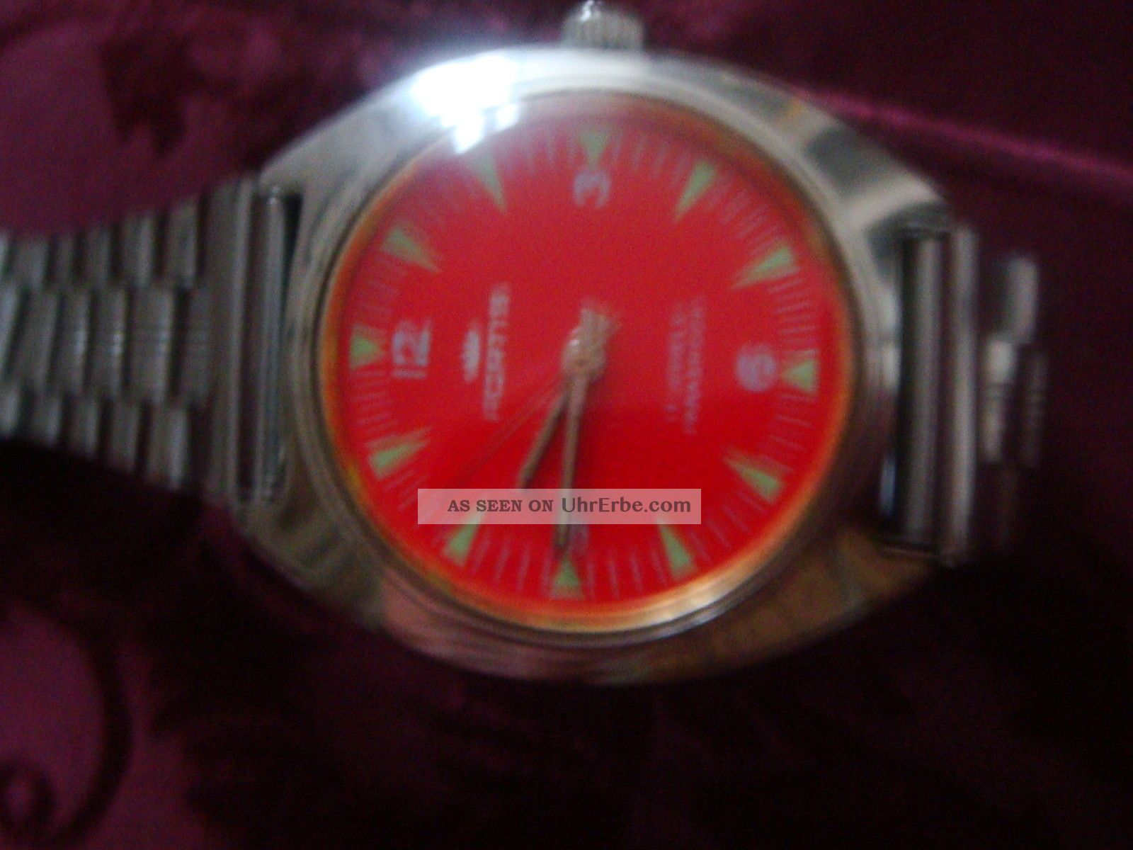 Fortis Handaufzug 17 Jewels Rotes Ziffeernblatt 36 Mm Armbanduhren Bild