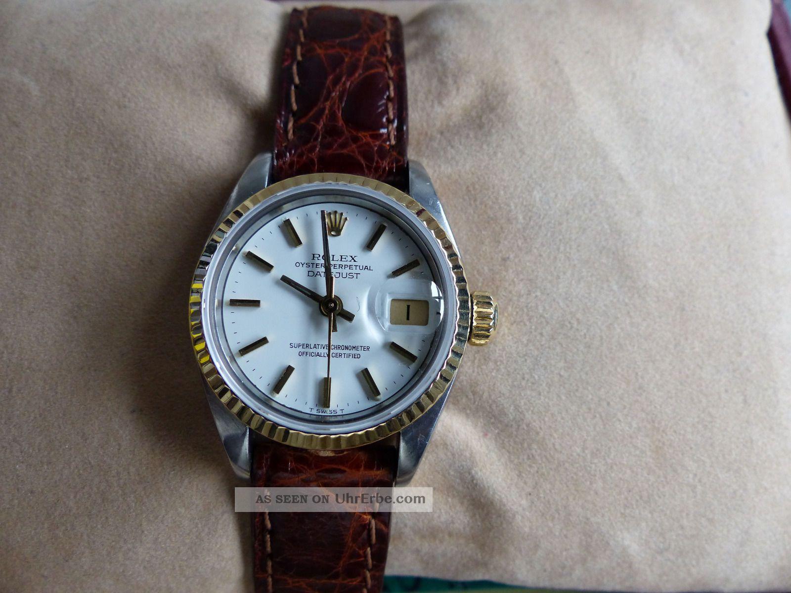 Rolex Lady Datejust Gold / Stahl,  Ref 69173,  Box,  Papiere,  Lc 100 Armbanduhren Bild