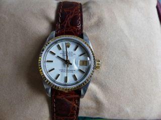 Rolex Lady Datejust Gold / Stahl,  Ref 69173,  Box,  Papiere,  Lc 100 Bild