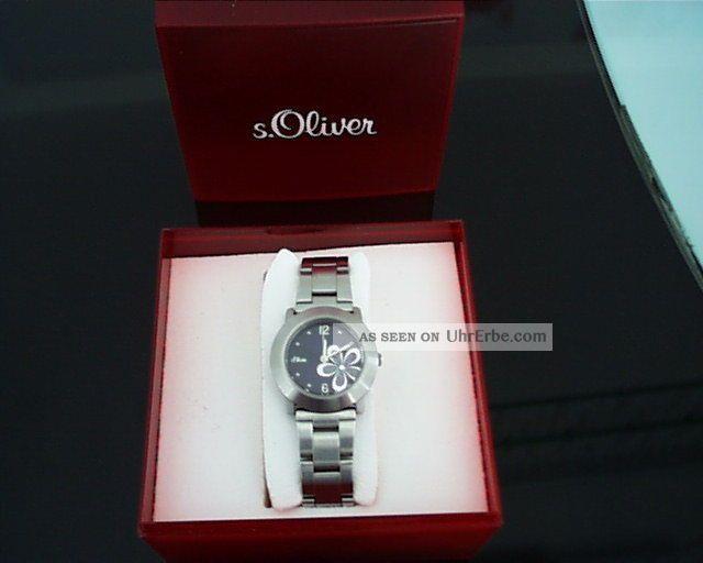 S.  Oliver Damen Uhr Edelstahl Mit Orig.  Verpackung Armbanduhren Bild