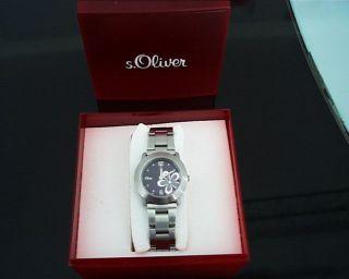 S.  Oliver Damen Uhr Edelstahl Mit Orig.  Verpackung Bild