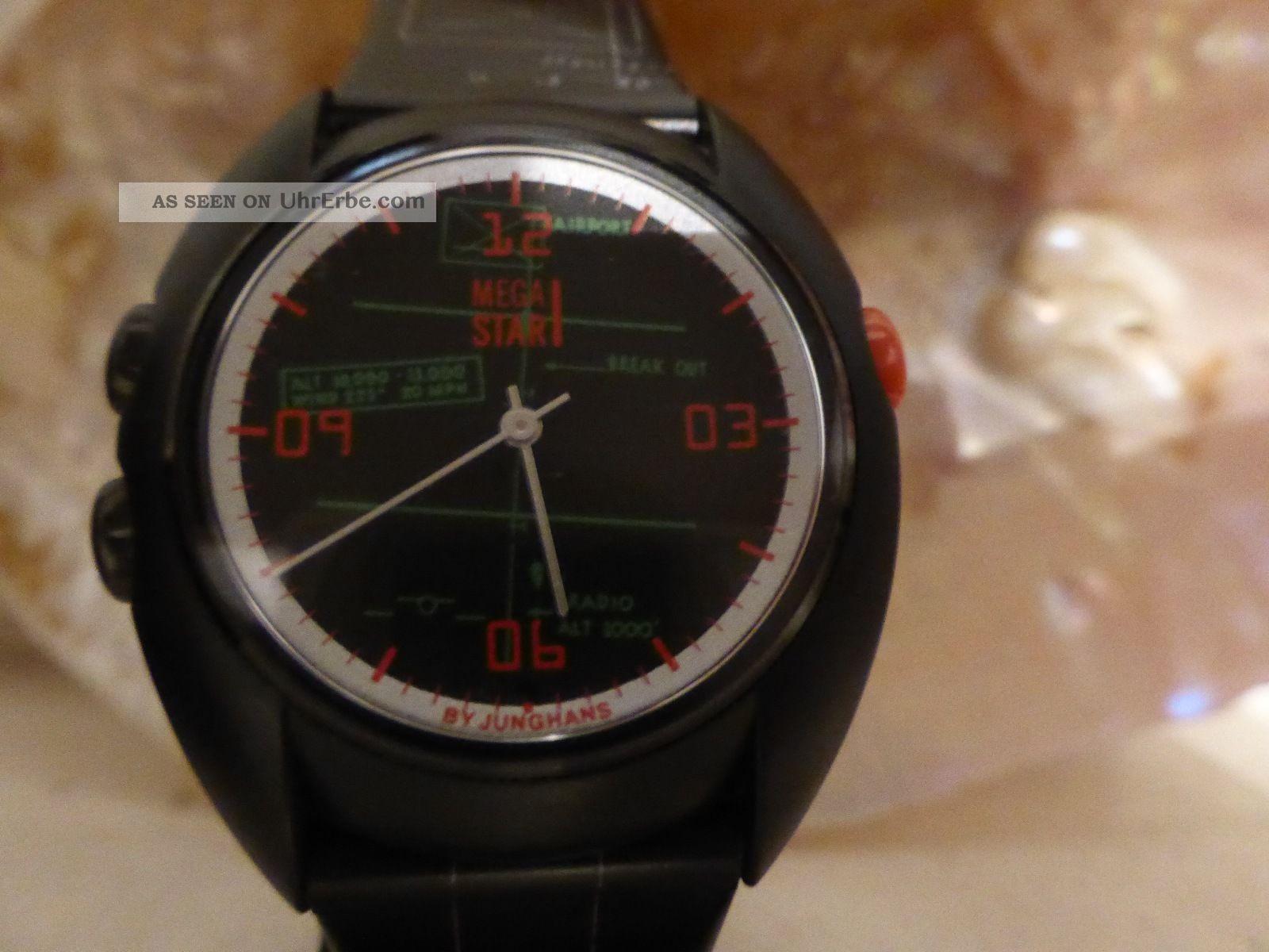 Junghans Mega Star Funkuhr - Ungetragen - Armbanduhren Bild