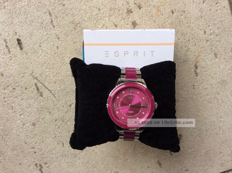 Damenuhr Esprit,  Pink,  Kaum Getragen Armbanduhren Bild