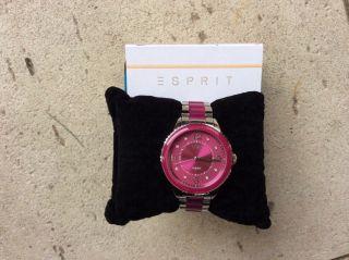 Damenuhr Esprit,  Pink,  Kaum Getragen Bild
