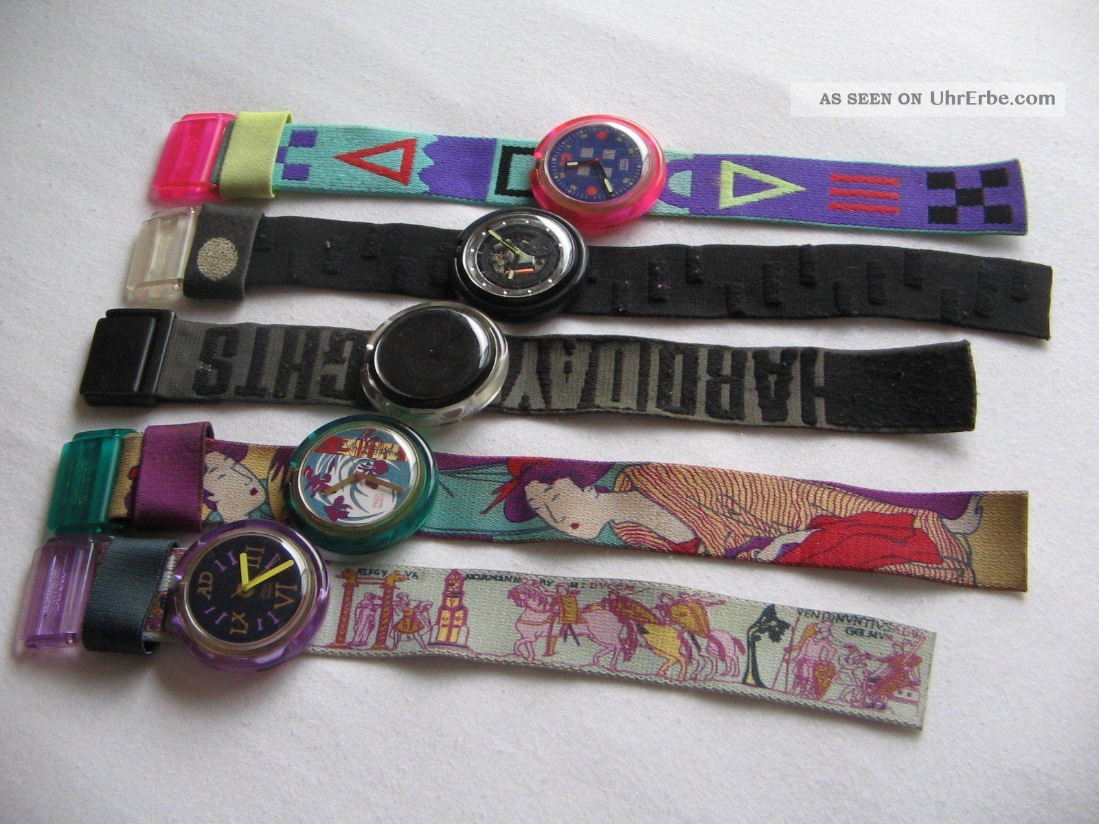Pop - Swatch Uhren Aus Den 90er Jahren, Armbanduhren Bild