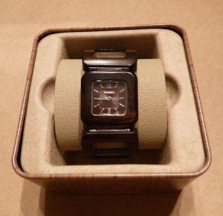 Fossil Damen Uhr Braun Holz Bild