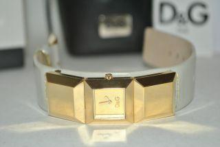 Damen Uhr Armbanduhr Lederarmband Quarz Analog Uhr Marke D&g Bild