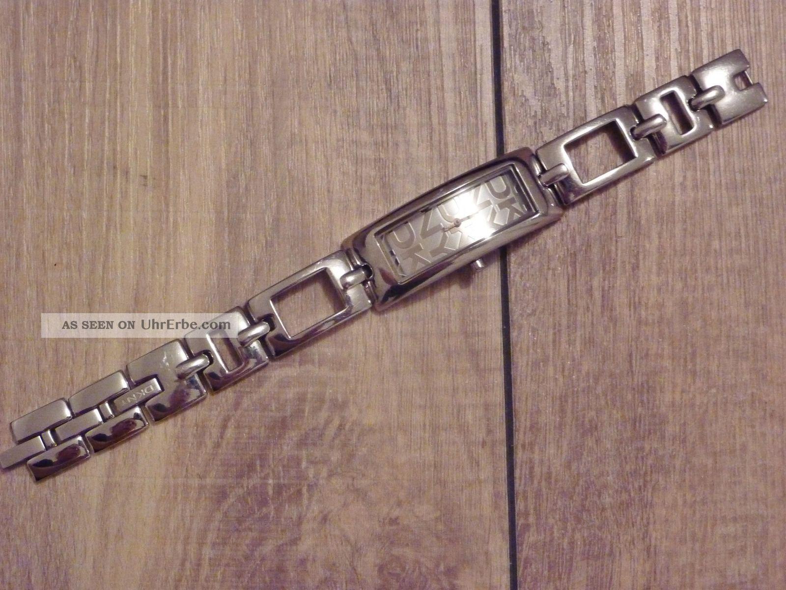 Uhr Damenuhr Von Dkny Silber Armbanduhren Bild