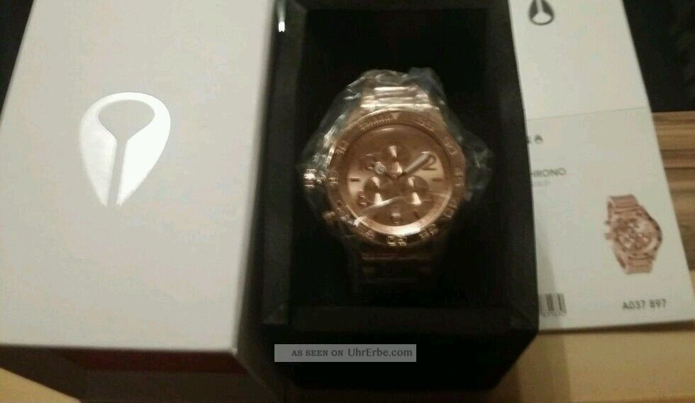 Nixon The 42 - 20 Chrono All Rose Gold Damenchronograph Armbanduhren Bild