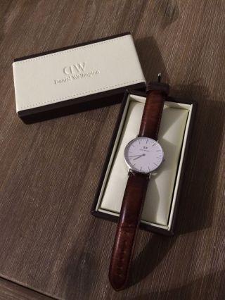Daniel Wellington Bristol Lady Damenuhr Uhr Braun Leder Silber Ovp Bild