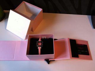Paris Hilton Small Square,  Np 108€ Damenuhr Pink Swarovski 138.  4304.  99,  Rar Bild
