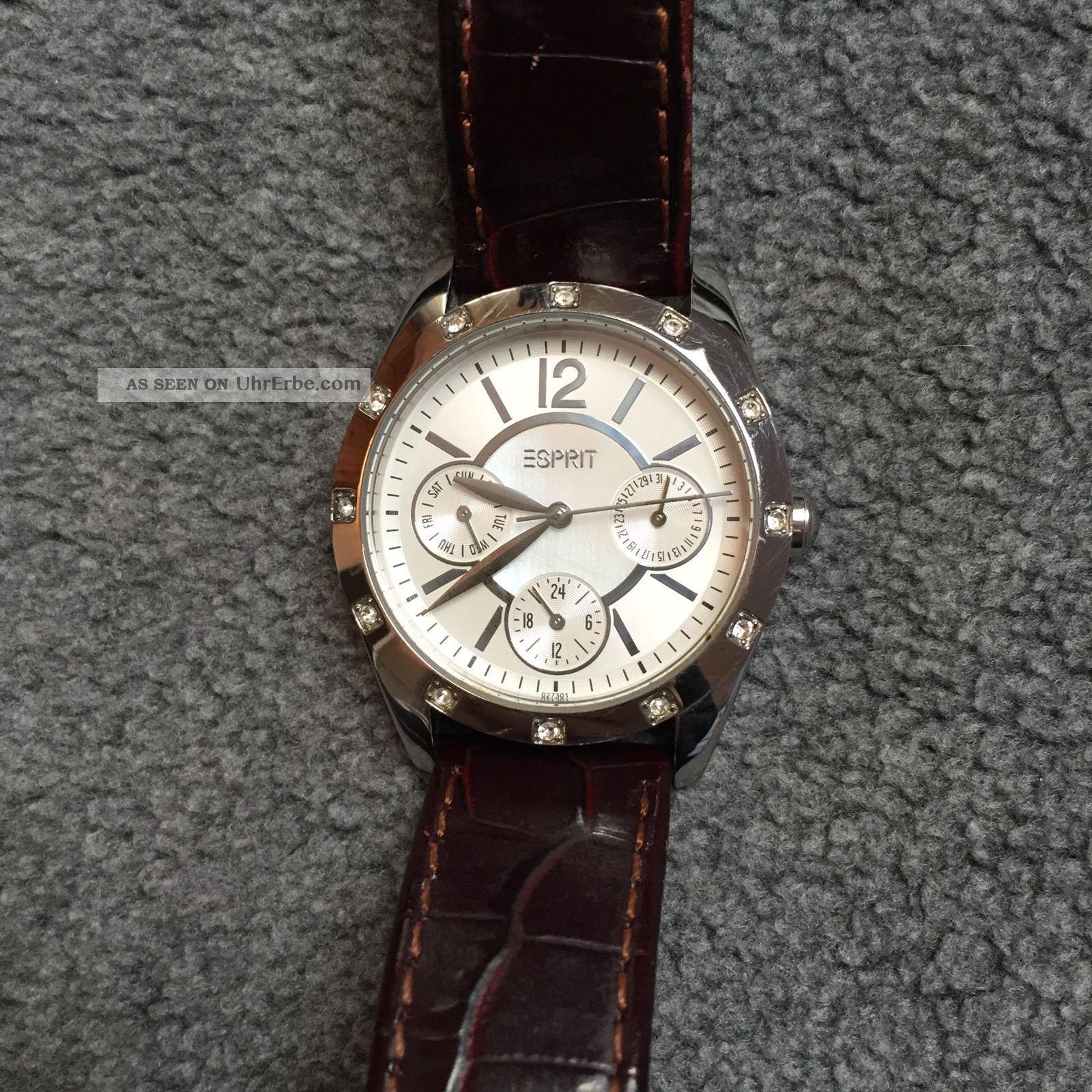 Esprit Damenuhr Uhr Braun Silber Armbanduhren Bild