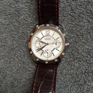 Esprit Damenuhr Uhr Braun Silber Bild