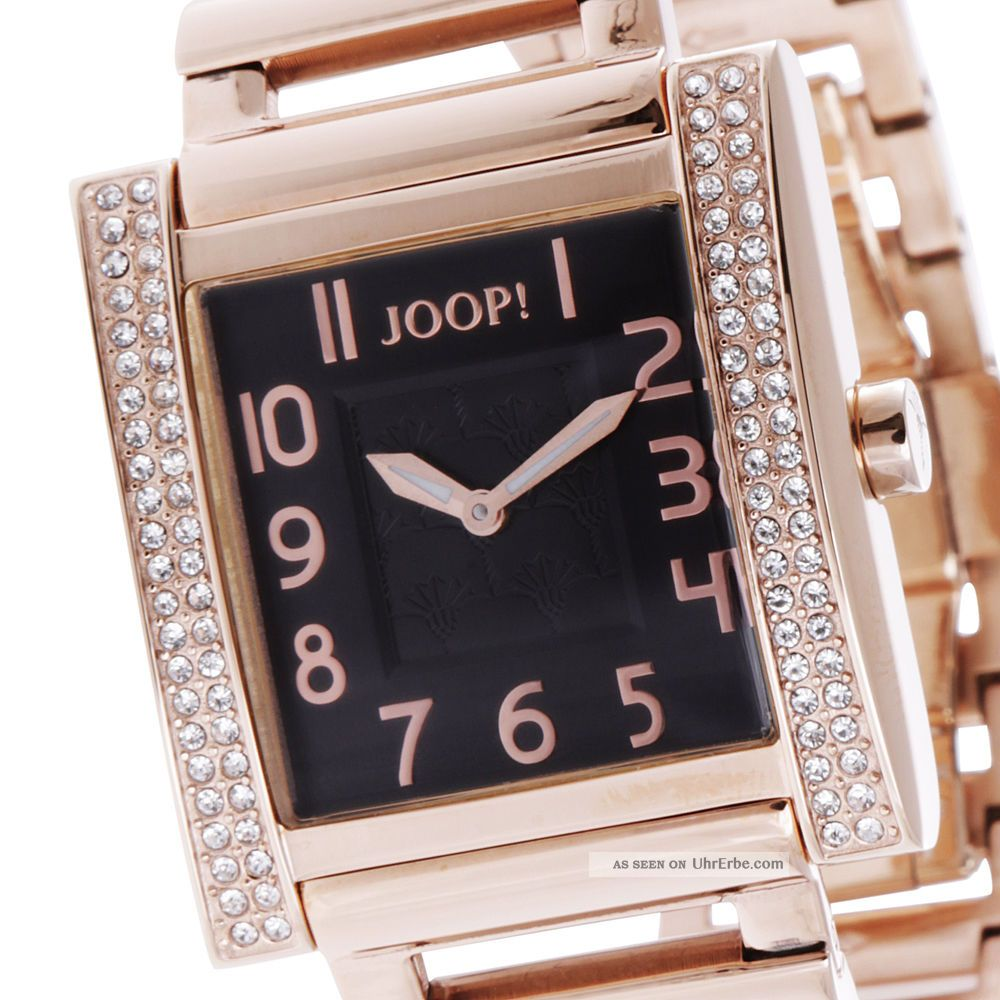 Joop Damenuhr Jp100592f06 Sobriety Rosé Strass, Armbanduhren Bild