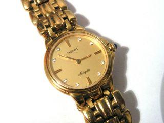 Klassisch & Edel Tissot Marquise Damenuhr Armbanduhr Goldfarben Bild