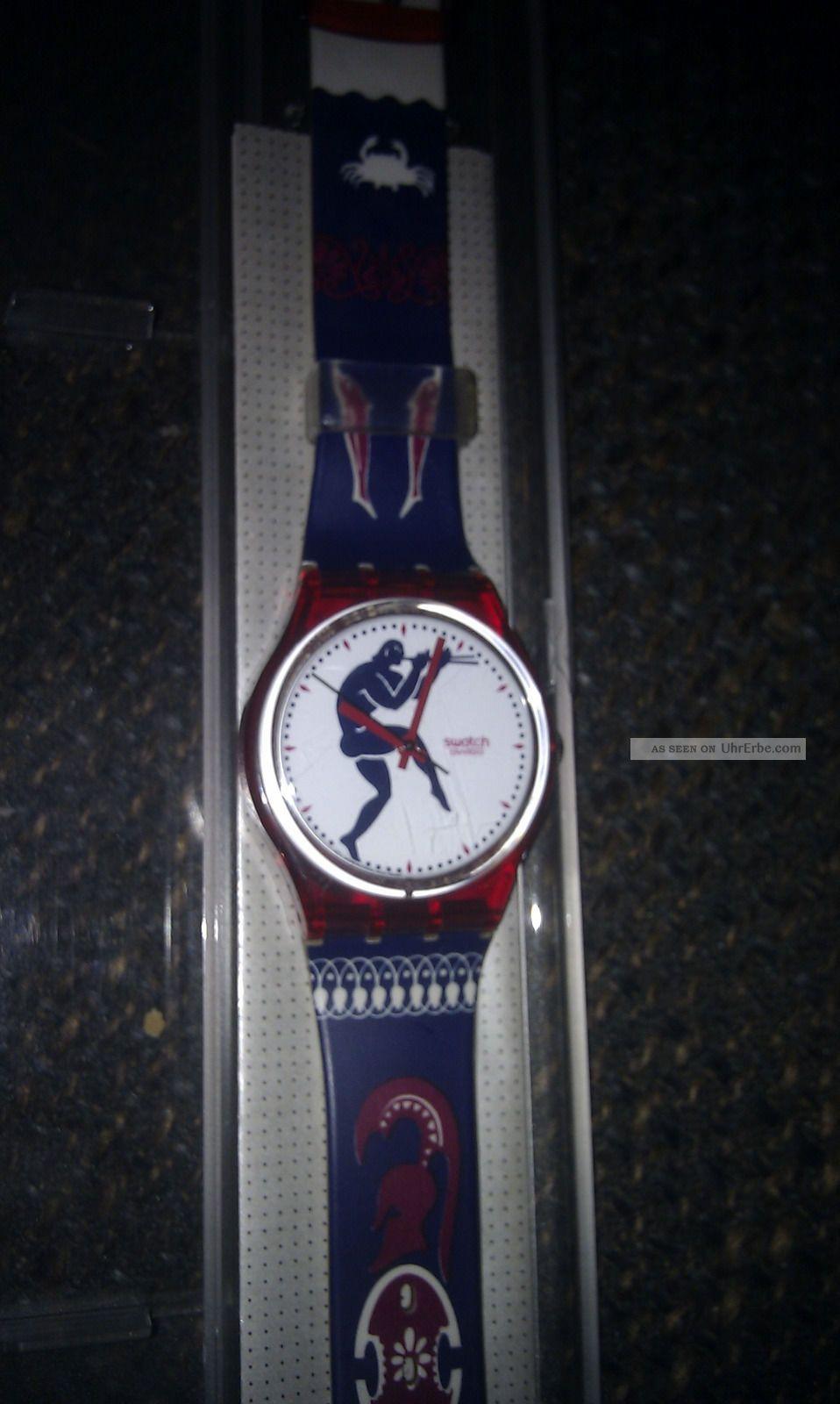 Swatch Uhr Gr 111 Tedophorus Uhr Ungetragen Retro 1991 Armbanduhren Bild