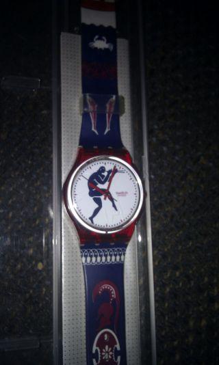 Swatch Uhr Gr 111 Tedophorus Uhr Ungetragen Retro 1991 Bild