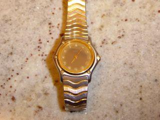 Ebel Classic Wave Damen Uhr Diamantzifferblatt Edelstahl/gold Bild