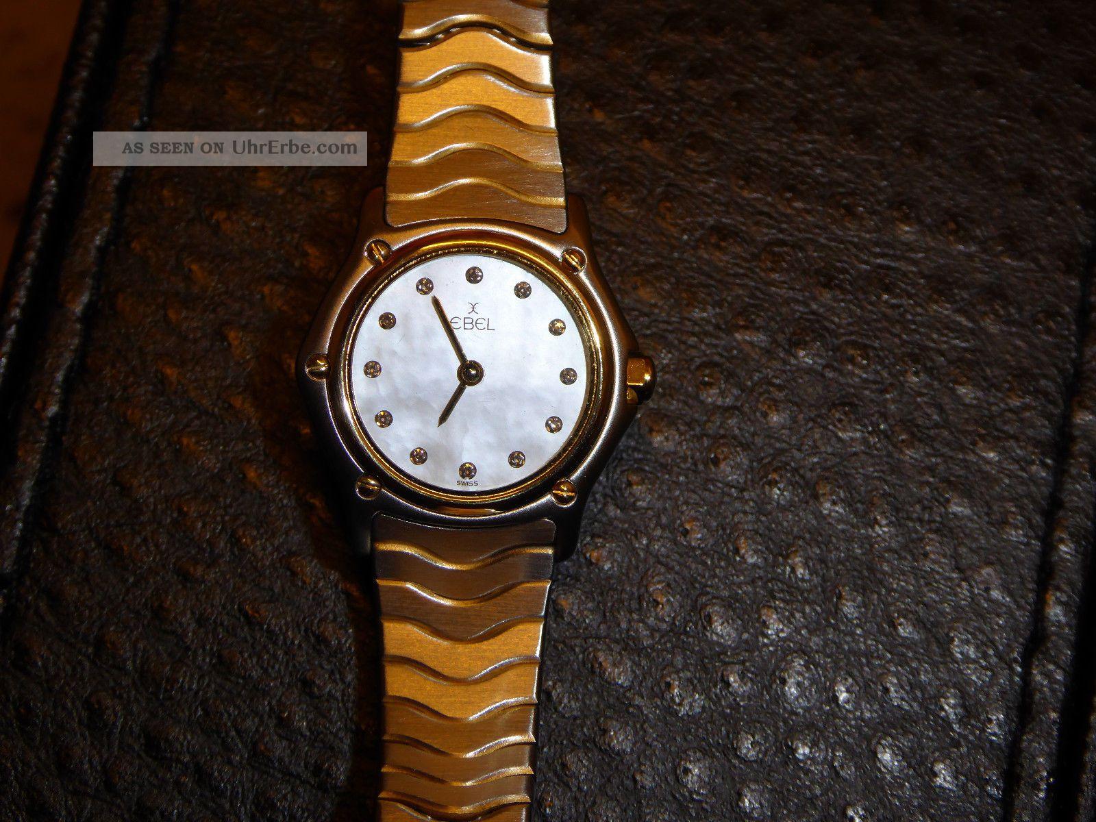 Ebel Lady Classicwave Gold / Stahl Damenuhr Classicwave Diamanten/perlmutt Armbanduhren Bild