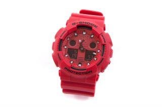 G - Shock Casio Ga - 100c - A4er Armbanduhr,  Red_900000 Bild
