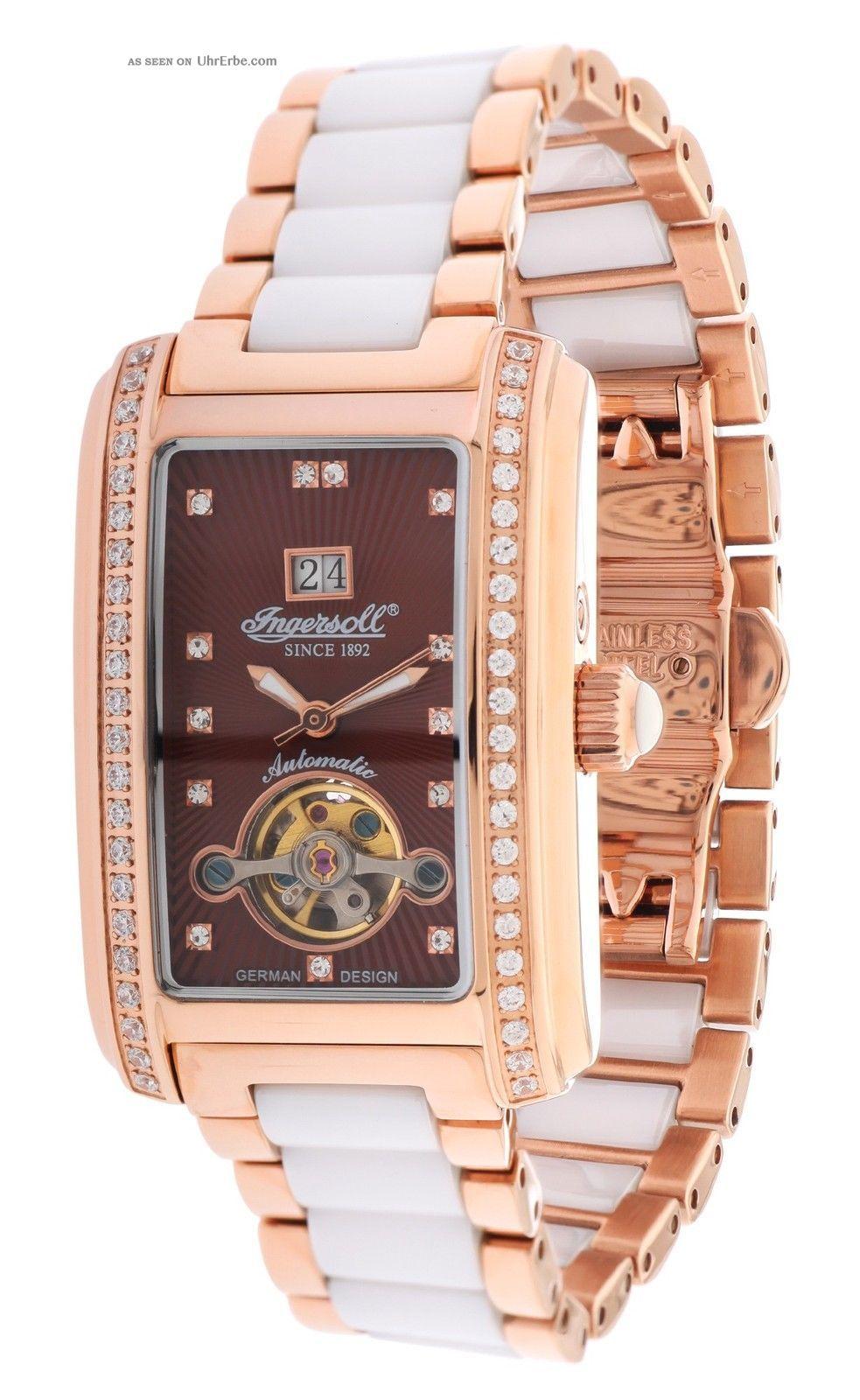 Ingersoll Damen Automatik Uhr Young Rotgold/weiß In5012rbrm Armbanduhren Bild