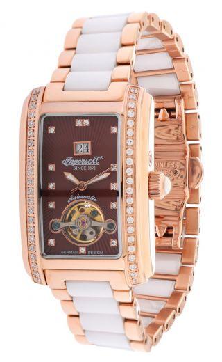 Ingersoll Damen Automatik Uhr Young Rotgold/weiß In5012rbrm Bild