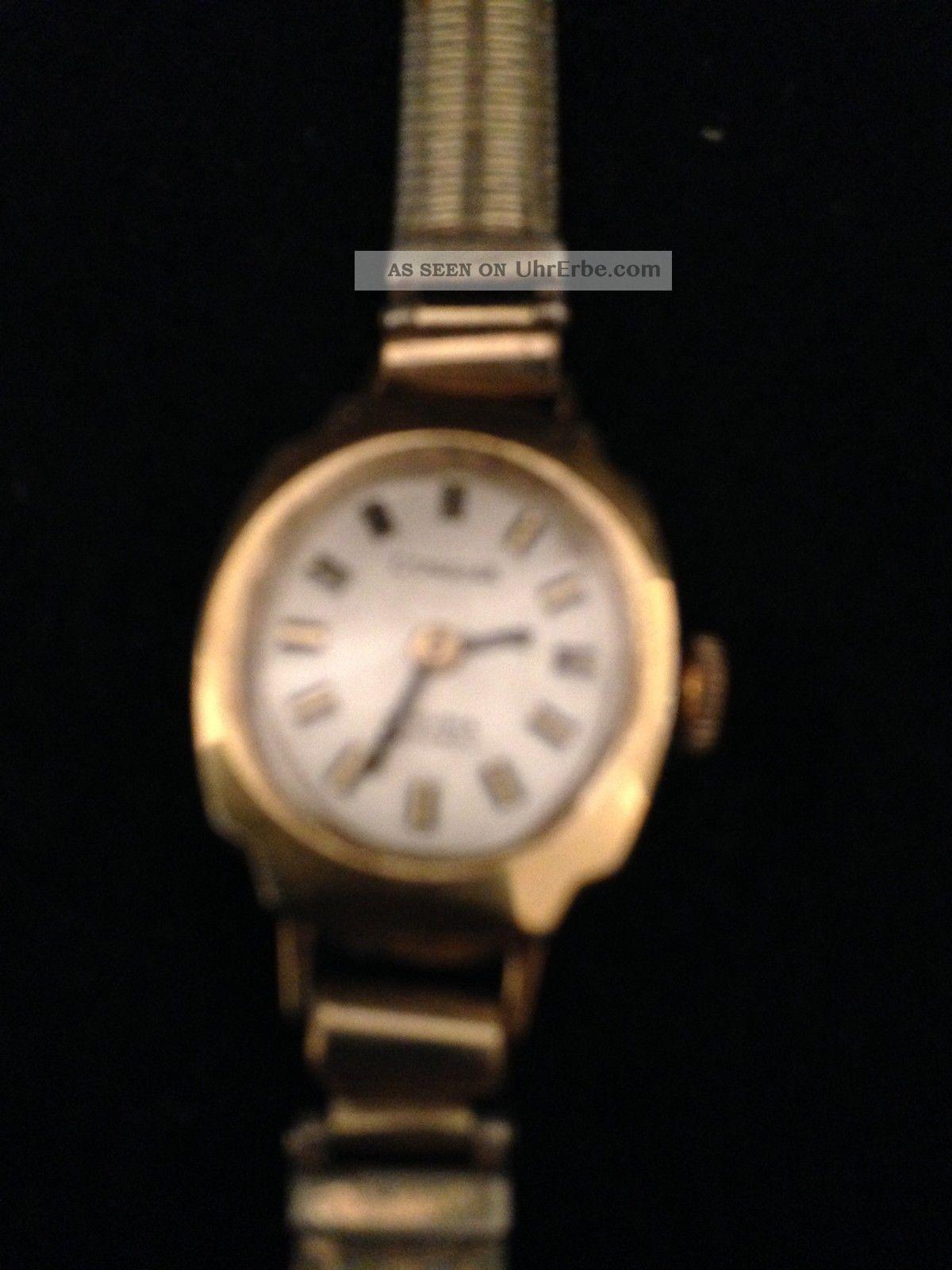 Bezaubernde Dugena Damen Armbanduhr Schweiz 17 Rubis Gold Läuft Armbanduhren Bild