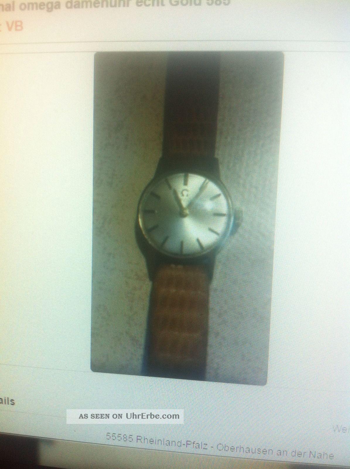 Originale Omega Damenuhr 585 Gold Armbanduhren Bild