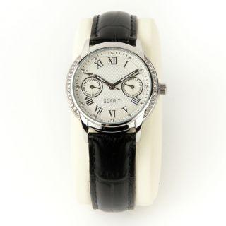 Esprit Damen Armbanduhr Chronograph Chrom Silber Schwarz Weiß Es900742001 Bild
