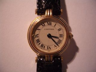 Cartier Damen Armband Uhr 750er Gold,  Trinity,  Sehr Hübsche Uhr,  Neues Band. Bild
