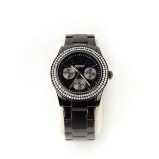 Esprit Damen Uhr Chronograph Edelstahl Mit Ip - Beschichtung Schwarz Es103822011 Bild