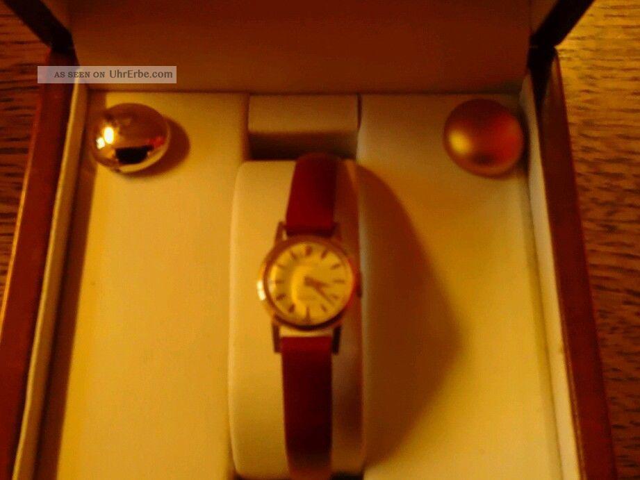Damenuhr Rolex Prcesion 750er Gold Armbanduhren Bild