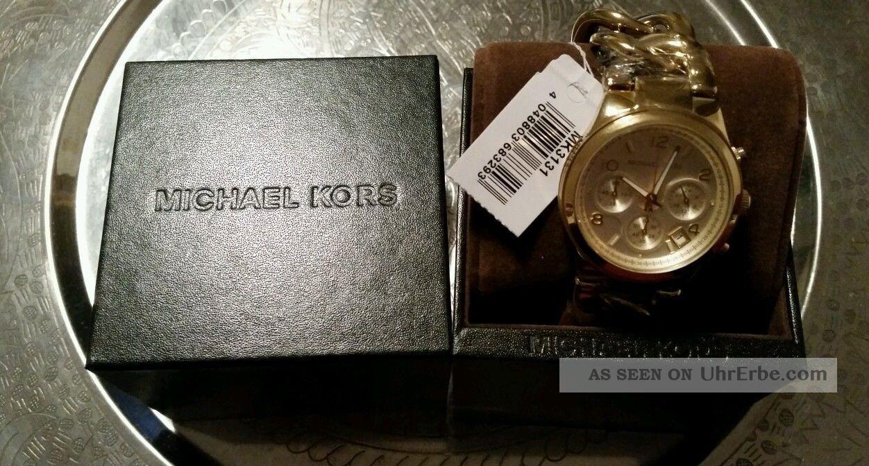 Michael Kors Damenuhr Goldfarben Mk3131 Ovp - Np 199€ Armbanduhren Bild