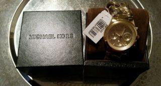 Michael Kors Damenuhr Goldfarben Mk3131 Ovp - Np 199€ Bild