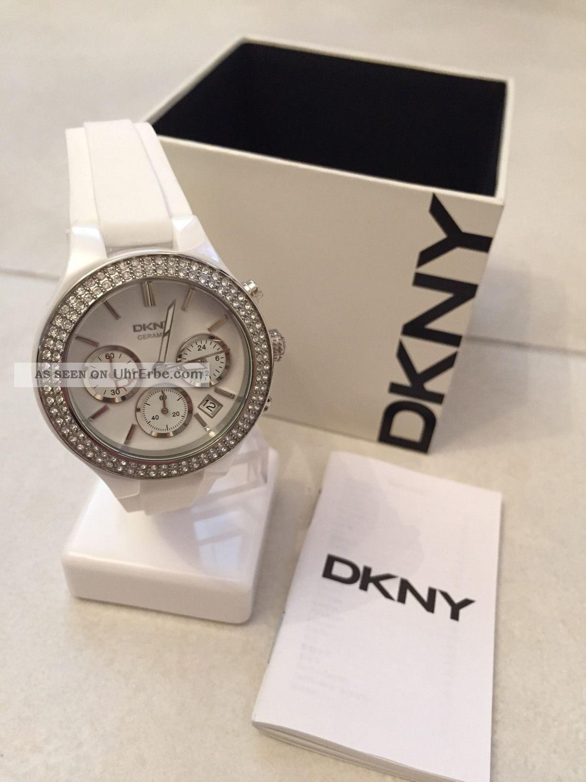 Dkny Donna Karan Ny8185 Damen - Uhr / Chronograph Keramik / Weiss Armbanduhren Bild