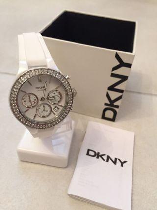 Dkny Donna Karan Ny8185 Damen - Uhr / Chronograph Keramik / Weiss Bild