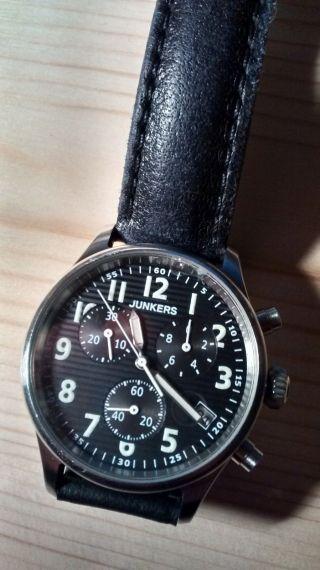 Junkers Wellblech Ju 52 Uhr 6286 - Leicht Ramponiert,  Lederband Bild