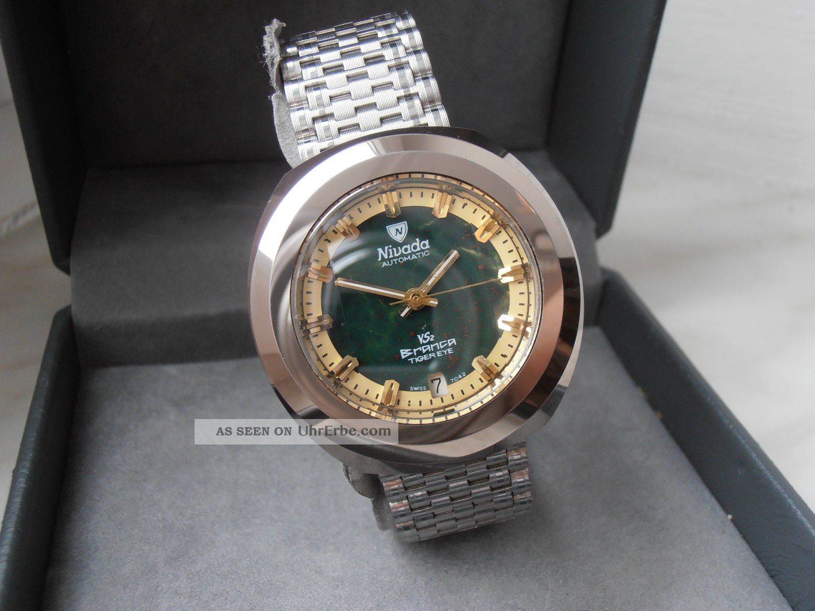 Extrem Rare Nivada Branca Vs2 Automatic Armbanduhren Bild