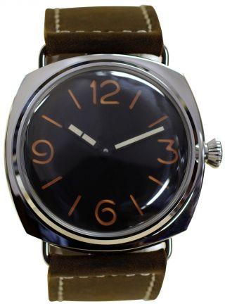 Parnis Edelstahl - Herrenuhr Modell 2013 Handaufzug Armbanduhr Seagull Leder Bild