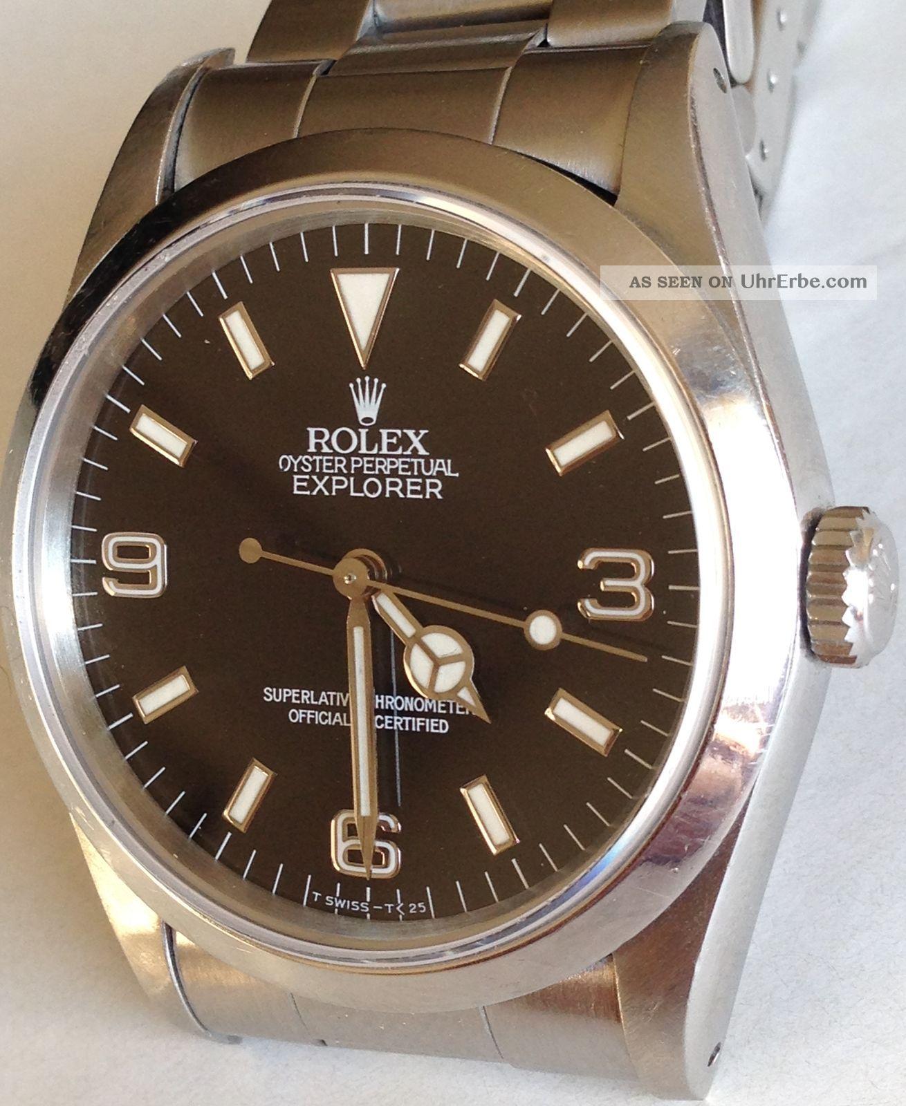 Rolex Oyster Perpetual Explorer I 14270 Automatik Armbanduhr Aus 1990 Armbanduhren Bild