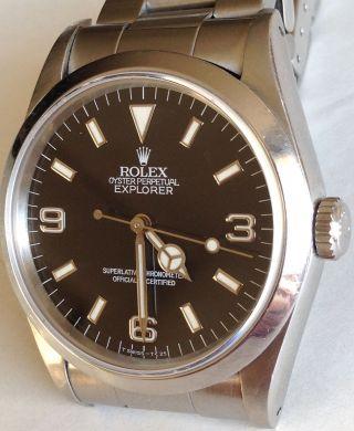 Rolex Oyster Perpetual Explorer I 14270 Automatik Armbanduhr Aus 1990 Bild