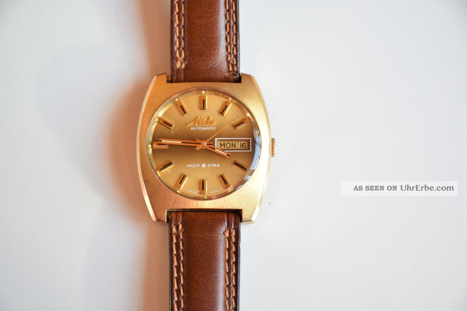 Mido Automatic Multi Star Mechanische Schweizer Uhr Armbanduhren Bild