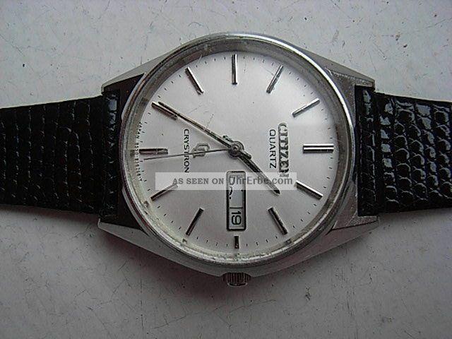 Herren Armbanduhr Citizen Crystron Japan Armbanduhren Bild
