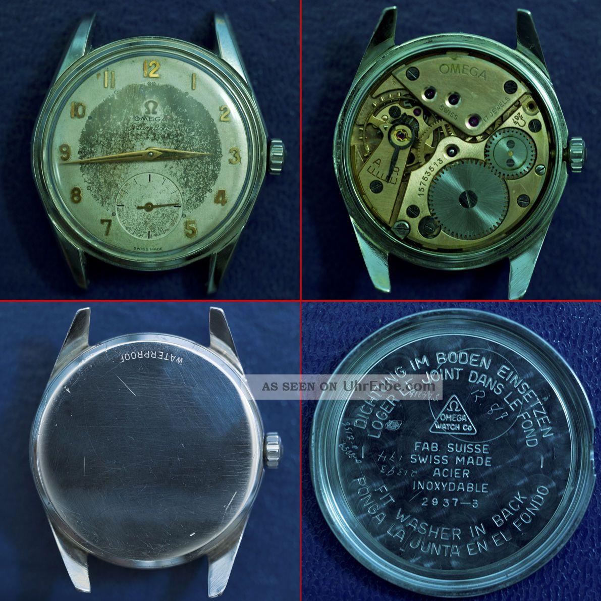 Armbanduhr,  Rare,  Vintage,  Frühe Seamaster Von Omega Mit Kleiner Sekunde Armbanduhren Bild